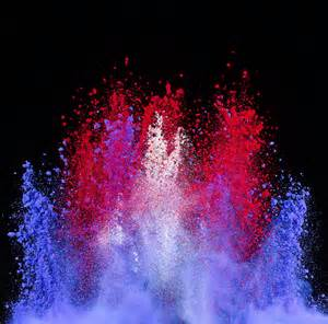 colored powder patriotic explosion of colored powder photograph by don