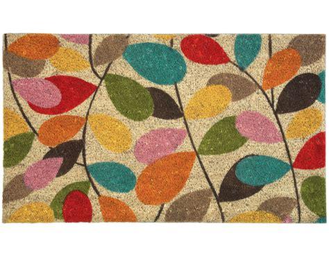 Orla Kiely Doormat by Leaf Doormat Crimson Tiger
