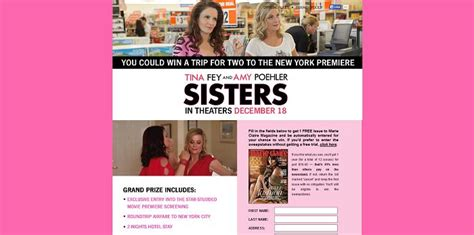 Marie Claire Sweepstakes - marieclaire com sisters marie claire sisters premiere trip sweepstakes