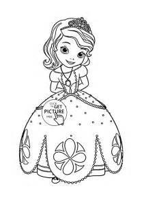coloring for coloring pages princess sofia coloring page for