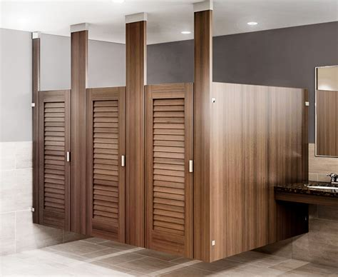Bathroom Stall Doors Ironwood Manufacturing Louvered Restroom Partition