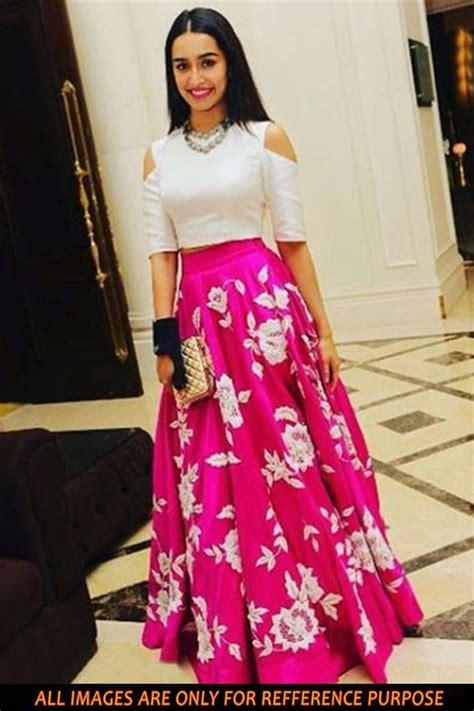 Sari Silk Rugs by Buy Shraddha Kapoor Inspired Bollywood Replica Lehenga