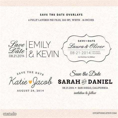 Photoshop Save The Date Overlays Wedding Photo Cards Psd Templates Overlays Photoshop And Save The Date Template Psd