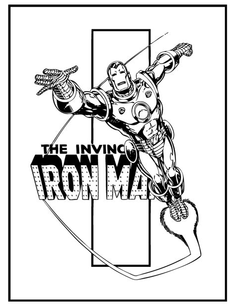 iron man comic coloring coloring pages