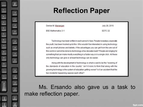 How To Make A Reflection Paper - my portfolio in educational technology 2