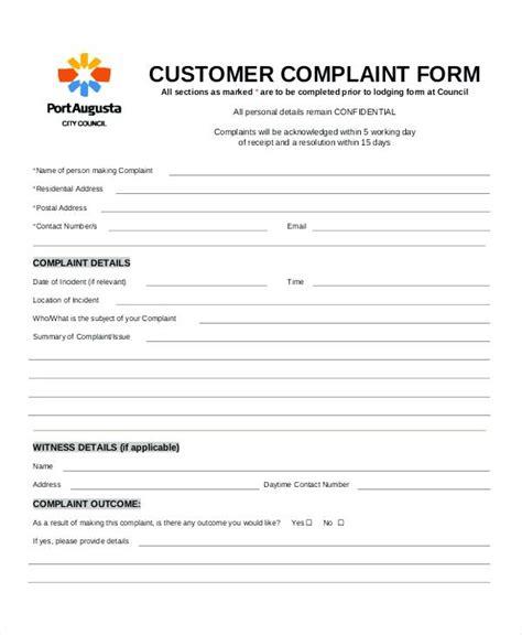 Free Cover Letter A Poor Service Complaint Template Customer Complaints Procedure Client Customer Complaint Form Template Word
