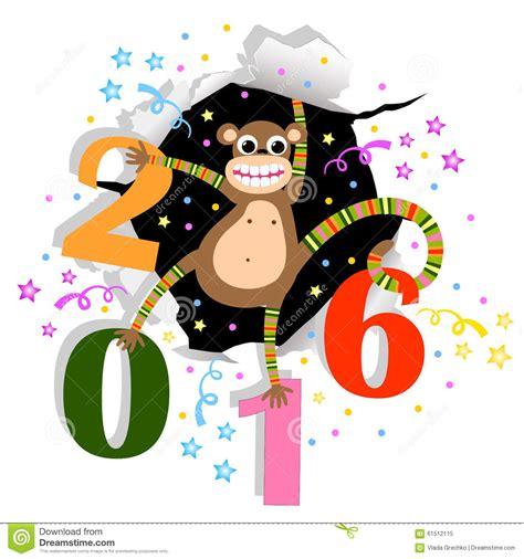 happy new year monkey happy new year with monkey stock vector illustration of