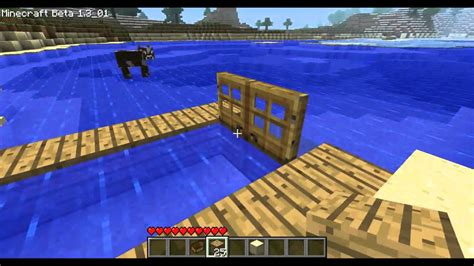 minecraft dog on boat minecraft how to make a dock in minecraft and not break