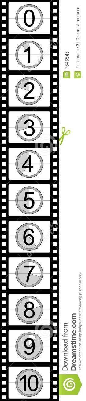 Filmstrip Countdown Royalty Free Stock Photo Image 7646545 Filmstrip Countdown