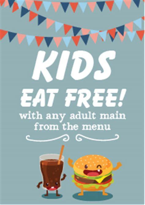 design poster online free uk kids eat free poster template