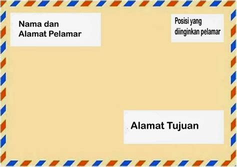 Map Surat Lamaran by Contoh Tata Letak Penulisan Lop Lamaran Kerja Via Pos