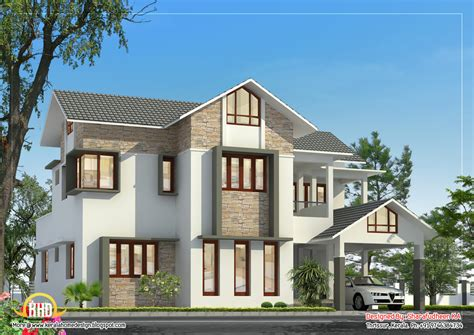 Kerala Home Design Thrissur by Beautiful Sloping Roof Home Design 2675 Sq Ft Home