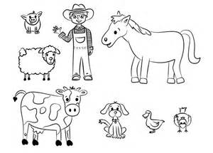 farm template 70 animal colouring pages free print free