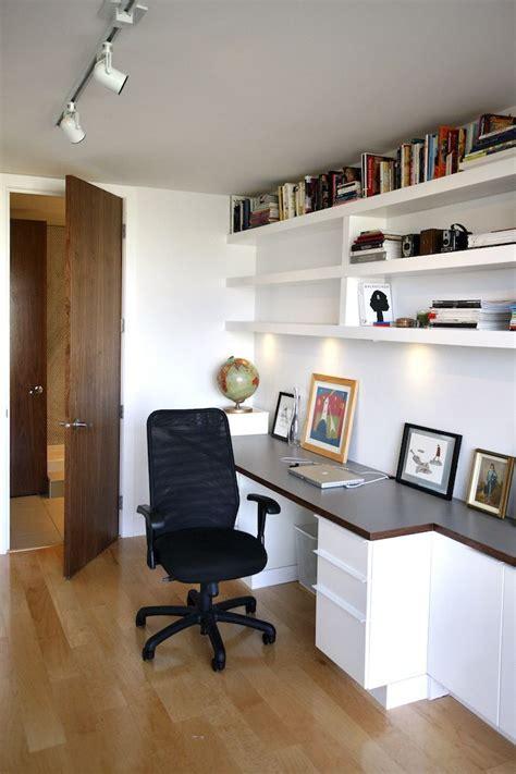 shelving above desk home