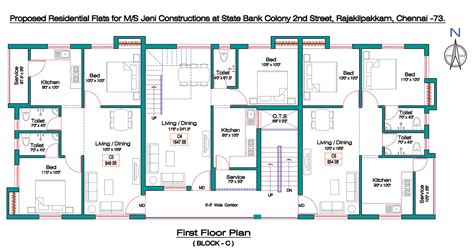 bank design floor plan joel state bank colony rajakilpakkam by jeni construction
