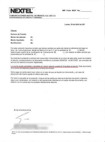 formato carta de cancelacion telmex nextel las ratas de m 233 xico cuidado guadalajara jalisco mexico