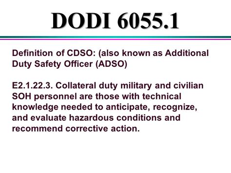 online tutorial definition additional duty safety course post exam answers