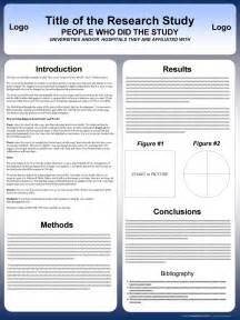 Ppt Poster Template by Free Powerpoint Scientific Research Poster Templates For