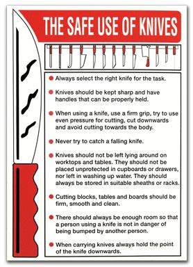 knife handling safety the safe use of knives direct signs
