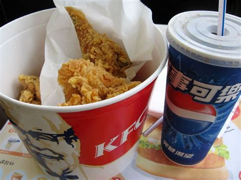 kentucky fried chicken food photoblog of the no shower