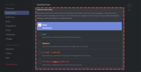 discord level what are verification levels discord