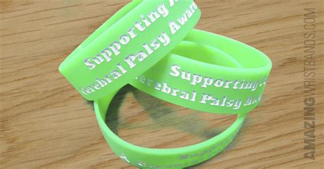 cerebral palsy color support cerebral palsy awareness with green silicone