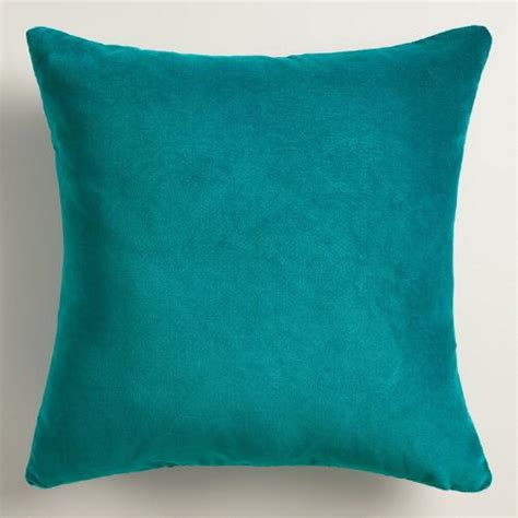 Teal Throw Pillows Teal Velvet Throw Pillow World Market