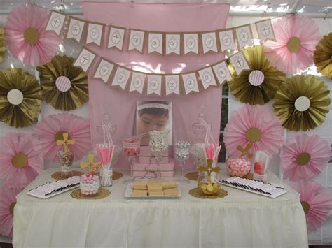 Royal Kitchen Design by Pink And Gold Baptism Candy Buffet Little Dimple Designs