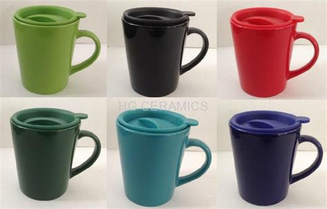 ceramic mug with Plastic lid   Ceramic Cups&Mugs   China   HG CERAMICS