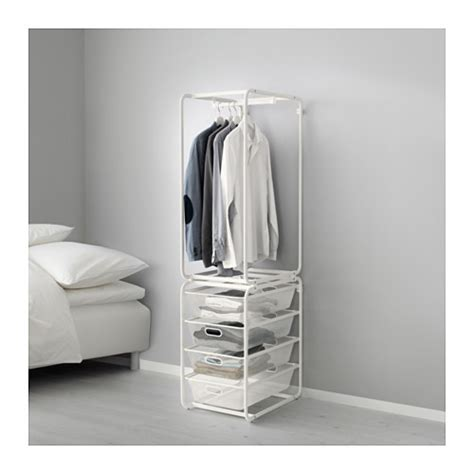 open clothes storage algot frame with rod and mesh baskets ikea