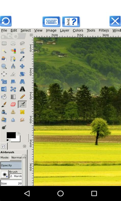 gimp for android andropainter image editor for photos with gimp from offidocs free android app android freeware