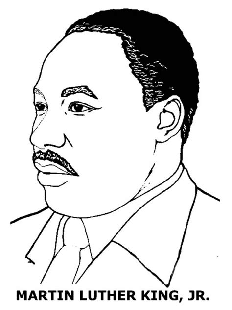printable coloring page of martin luther king jr martin luther king free colouring pages