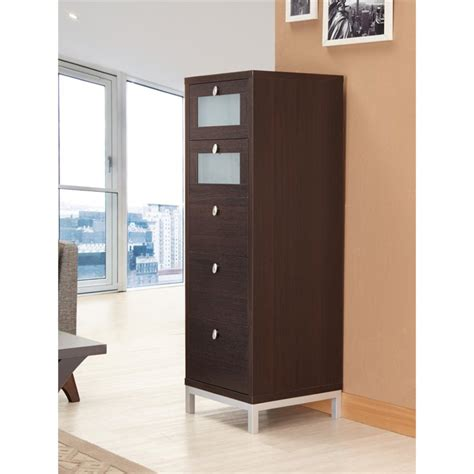 furniture of america joelle modern storage cabinet in