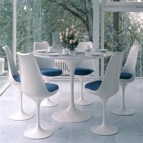 table ronde design blanche table design ronde 90cm blanche tulipe achat vente