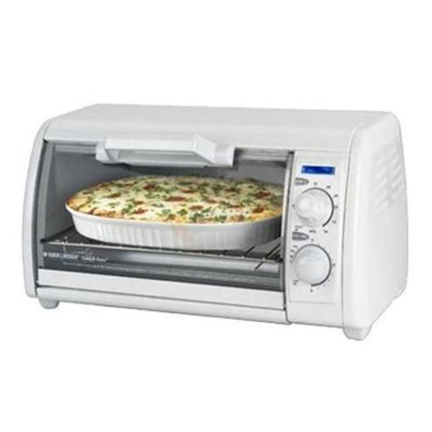 Toast R Oven Classic Countertop Ovenbroiler In White by Black Decker Toast R Oven 4 Slice Countertop Toaster Oven