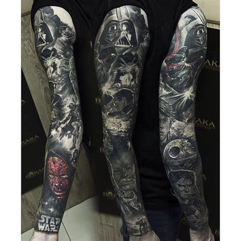 star wars full sleeve tattoo best tattoo ideas gallery
