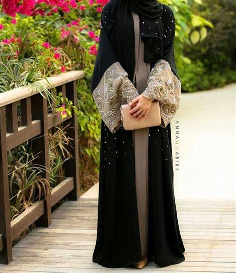 Abaya Turki Black Gold fashion for the abaya hijabiworld