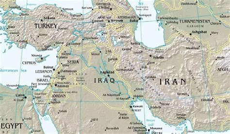 middle east map euphrates river ooutline