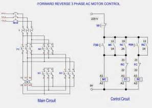 forward amp reverse 3 phase ac motor control circuit diagram