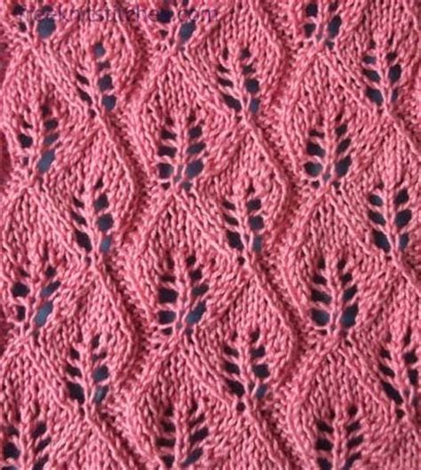 leaf stitch knitting knitting leaf stitches patterns for free images frompo