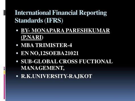 International Financial Reporting Standards international financial reporting standards ifrs ppt