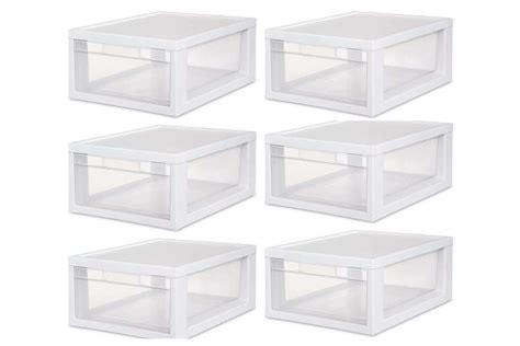 Sterilite Modular Drawers by Sterilite Medium Modular Stacking Storage Drawer 6 Pack