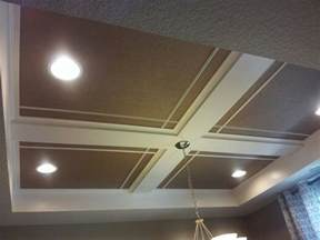 Easy Ceiling Ideas easy coffered ceiling diy basement ideas