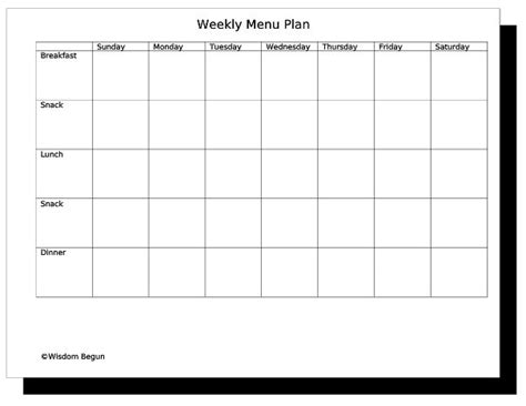 Meal Planning Template Clipart Best Clipart Best Menu Template Pinterest Weekly Menu This Week S Menu Template