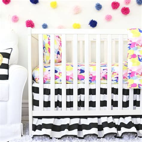 black and white baby crib bedding makenna black and white crib bedding set by caden