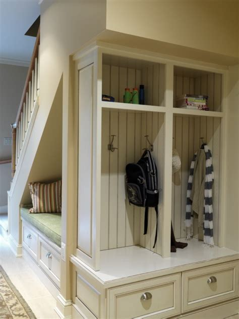 under the stairs storage wicker stitch clever under stair storage idea
