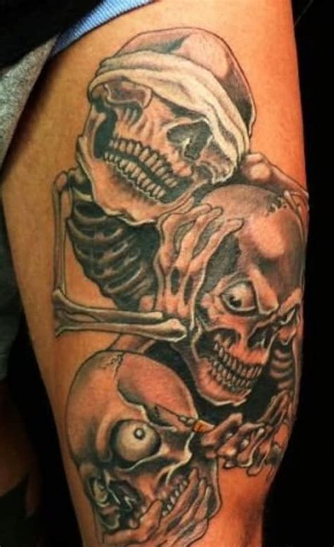 Evil Tattoo Images Designs Evil Skull Tattoos
