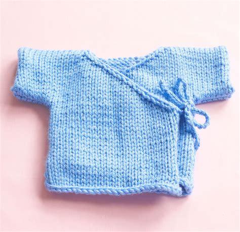 free knitting pattern for easy baby kimono easy garter spring blossom baby kimono in lion brand hometown usa