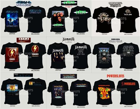 Kaos Slaves jual katalog kaos band rock jamrud edane power metal power