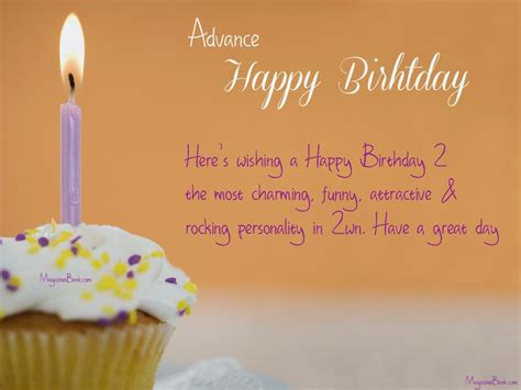 Advance Happy Birthday Wishes In Birthday Wishes In Advance